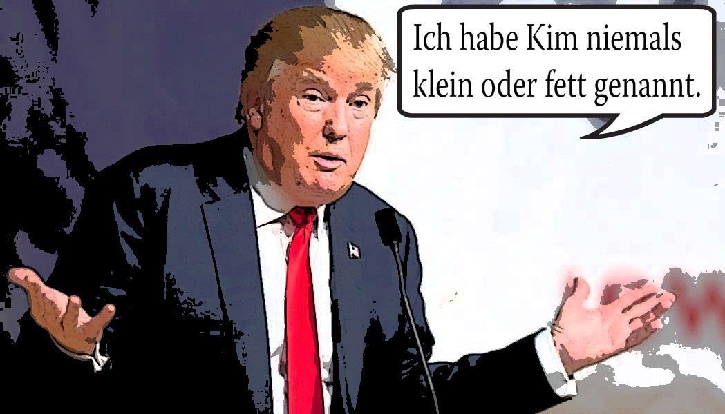 Trump klein und fett