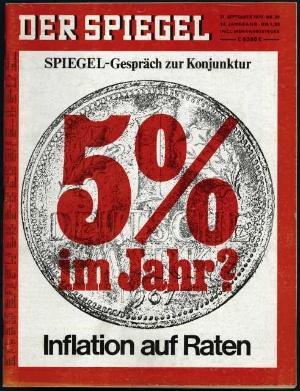 Wer steigt schneller? Die Inflation oder der Heftpreis des SPIEGEL?