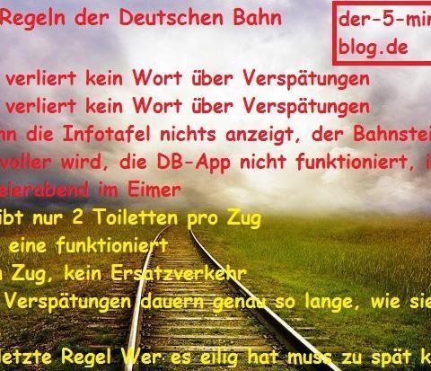 Die 8 Regeln der Deutschen Bahn